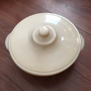 Vintage Fire King milkglass casserole dish and lid